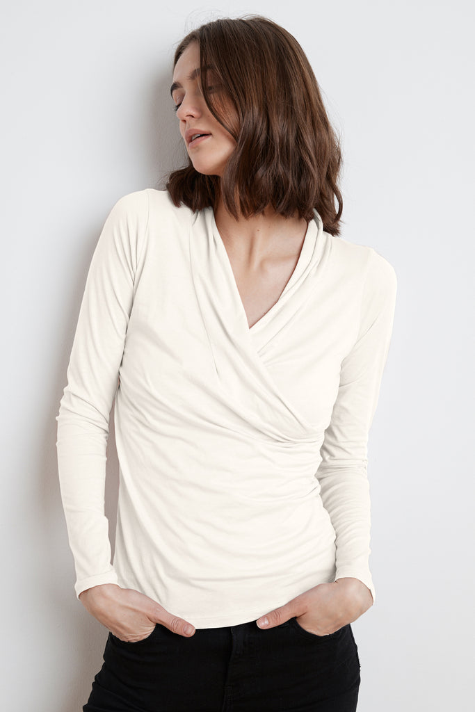 MERI WRAP FRONT TOP IN MOON