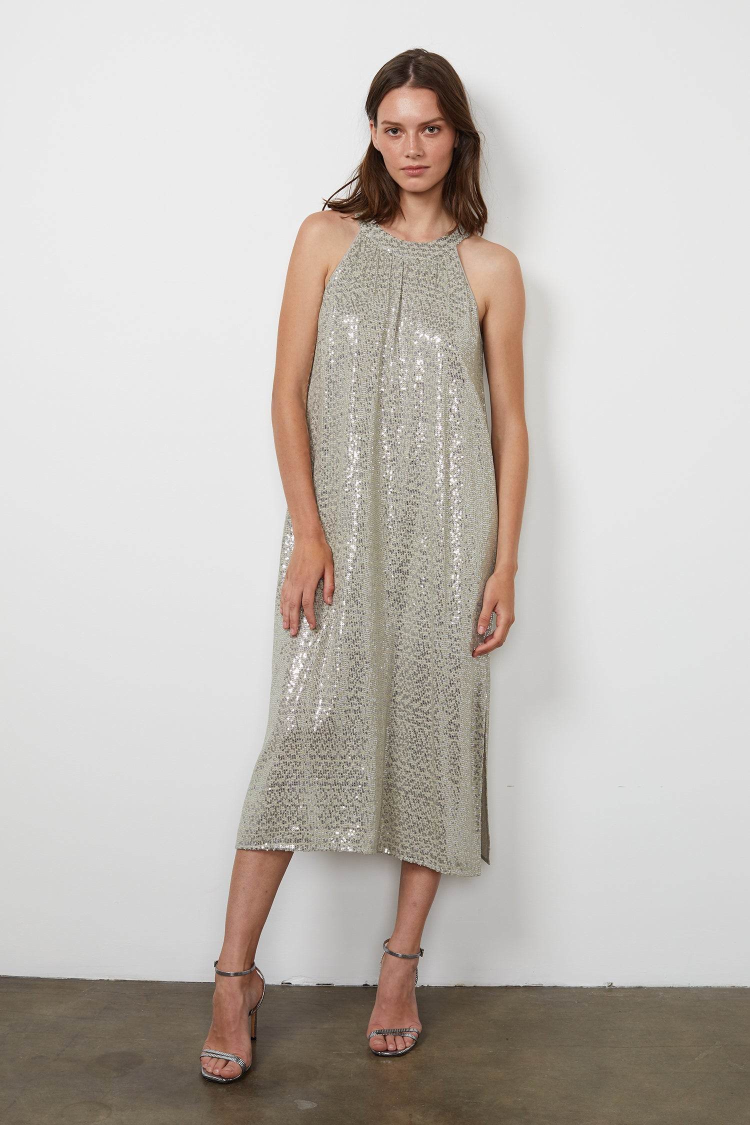 YASMEEN SEQUIN DRESS IN MELANGE