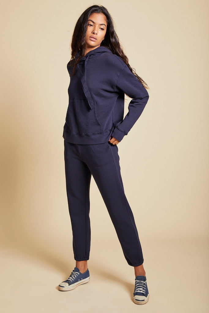 ZUMA ORGANIC COTTON SWEATPANT IN NAVY