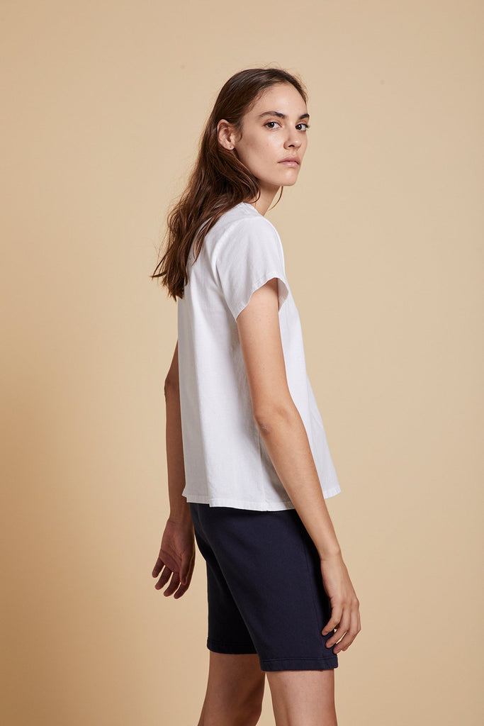TOPANGA ORAGNIC COTTON TEE IN WHITE