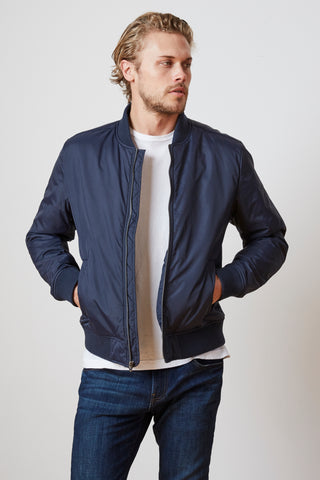 DOUGAL BOMBER JACKET IN MIDNIGHT