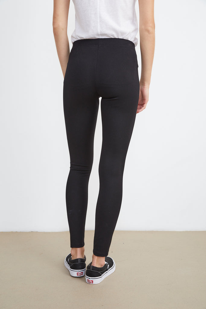 JILLETTE PONTI LEGGINGS IN BLACK