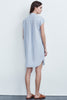 ARLEEN COTTON POPLIN BUTTON UP-DRESS IN CHAMBRAY