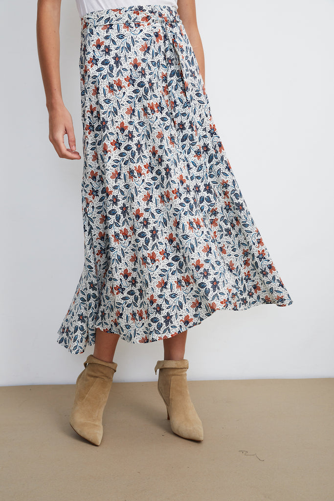SWAN HIGH LOW SKIRT IN MIMOSA