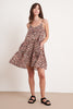 ZAHARA PRINTED COTTON VOILE DRESS IN BOBCAT