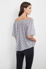 BERTIE COTTON OFF THE SHOULDER TOP IN BLUE
