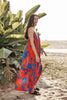 COLETTE PRINTED MAXI DRESS IN CATALINA