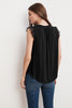 ANTONIA RAYON CHALLIS LACE SLEEVELESS TOP IN BLACK