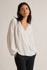 ELAINE RAYON CHALLIS BLOUSE IN WHITE