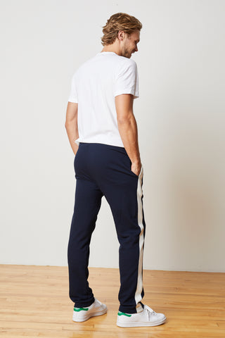 OZZIE STRIPE RIVIERA TERRY PANT in Postman