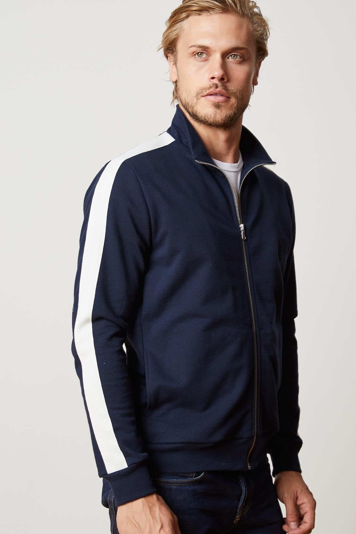 PABLO STRIPE RIVIERA TERRY TRACK JACKET in Postman