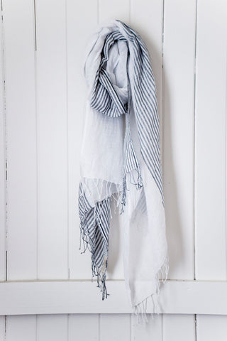 Once Was Lost SABI SCARF in Charcoal