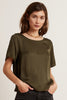 BELLA SATIN VISCOSE TOP IN ELM