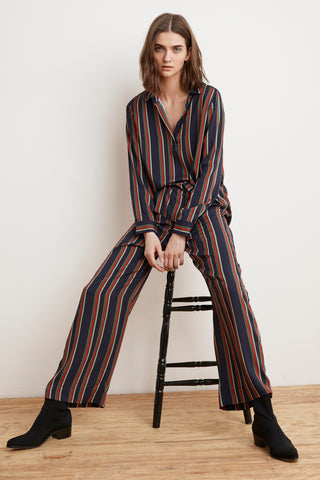 SINCLAIR STRIPE CHALLIS PANT IN MULTI