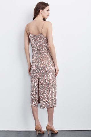KANIKA SEQUINS CAMI DRESS IN DEEP TAUPE