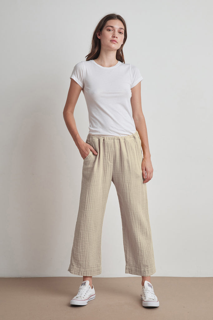SIDNEY COTTON GAUZE PANT IN DUSK