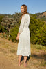 ADELINE SCHIFFLI LACE PEASANT DRESS IN WHITE