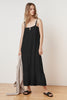 CELINDA SOFT COTTON GAUZE MAXI DRESS IN BLACK