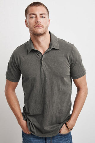 WILLIS COTTON PIQUE POLO IN NETTLE