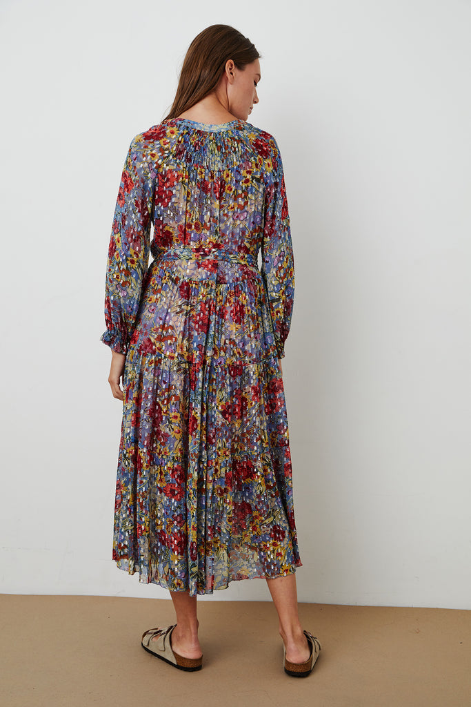 LUANA FLORAL PRINT DRESS IN MULTI