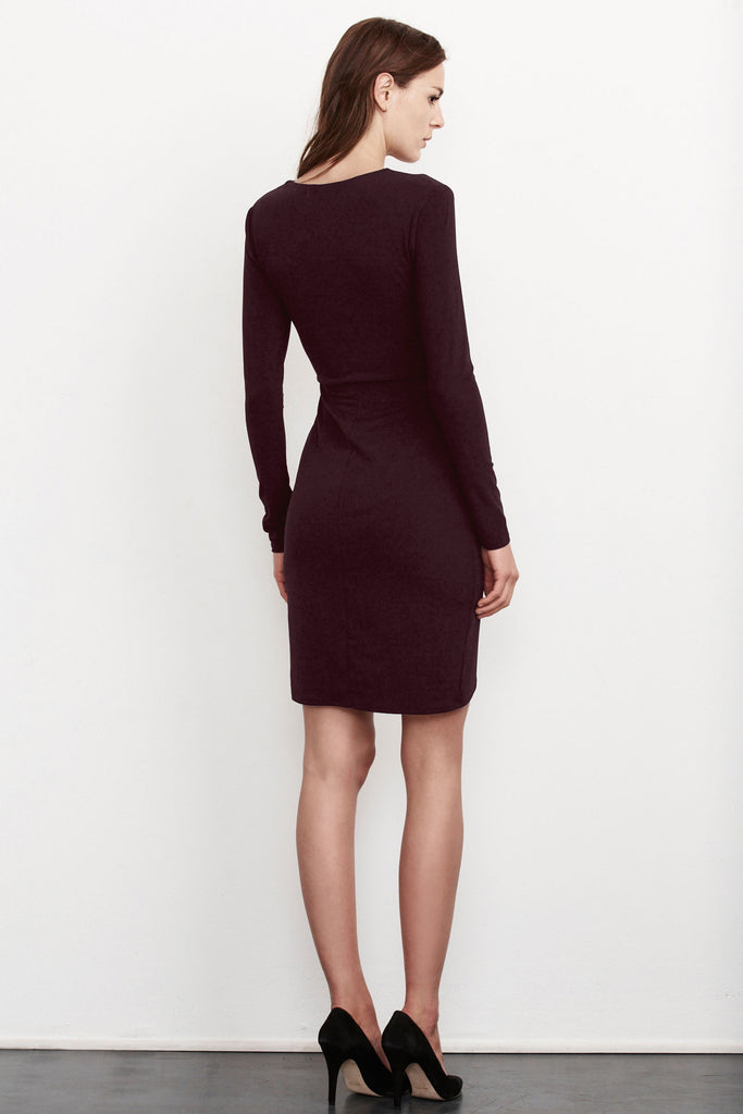 FOXY STRETCH JERSEY KNOT DRESS in Black