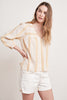 WINTER STRIPE JACQUARD TOP IN CUMIN