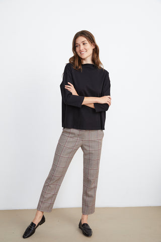 RYNN STRUCTURED COTTON KNIT IN BLACK