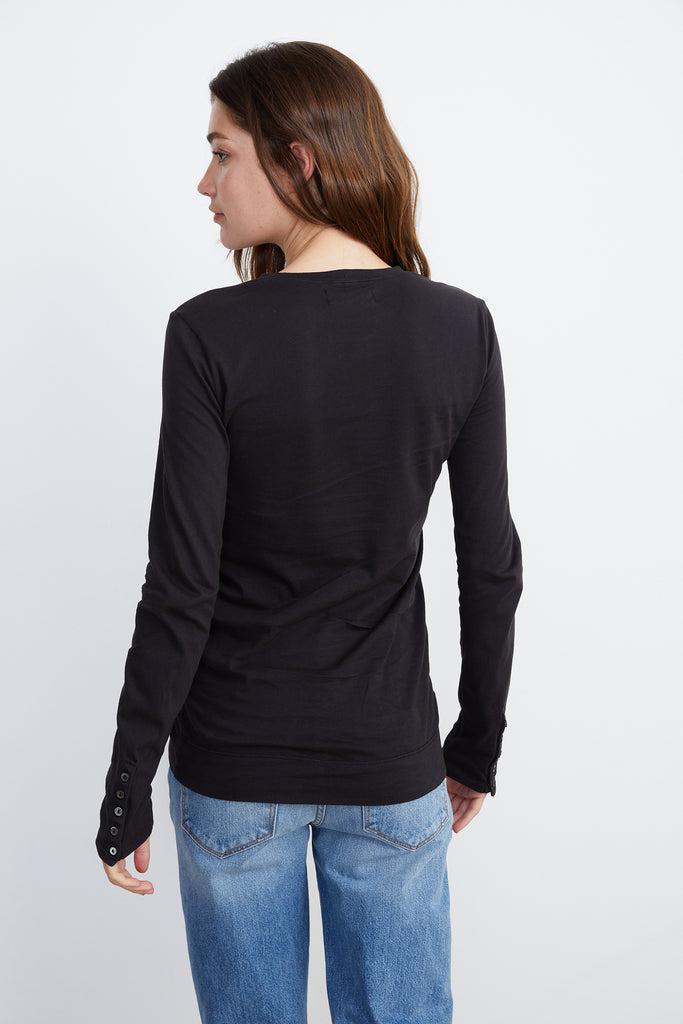 ROZALIA SUEDED JERSEY TEE IN EXHAUST