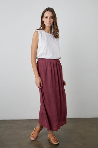 SYD COTTON GAUZE SKIRT IN COSMOS