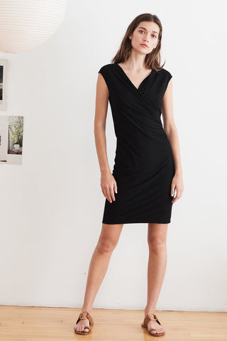 LYNNETTTE TENCEL JERSEY DRESS IN BLACK
