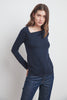 SYLVIE TENCEL JERSEY TOP IN CADET