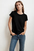 TRESSA SHORT SLEEVE CREW NECK TEE IN BLACK
