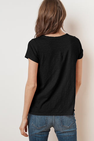 TILLY ORIGINAL SLUB SHORT SLEEVE TEE IN BLACK