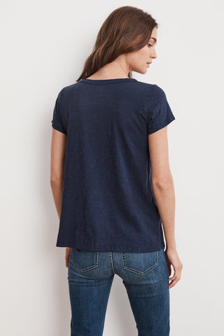 TILLY ORIGINAL SLUB SHORT SLEEVE TEE IN BLUECHIP