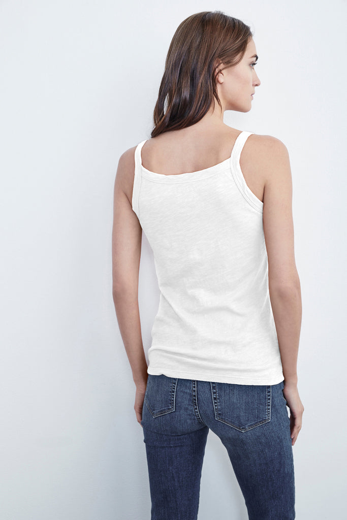 PEG VELVET ORIGINAL SLUB TANK IN WHITE