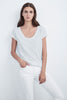 KIRA ORIGINAL SLUB SCOOP NECK TEE IN BREEZY