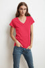 JILL SHORT SLEEVE V-NECK TEE IN FLIRTY