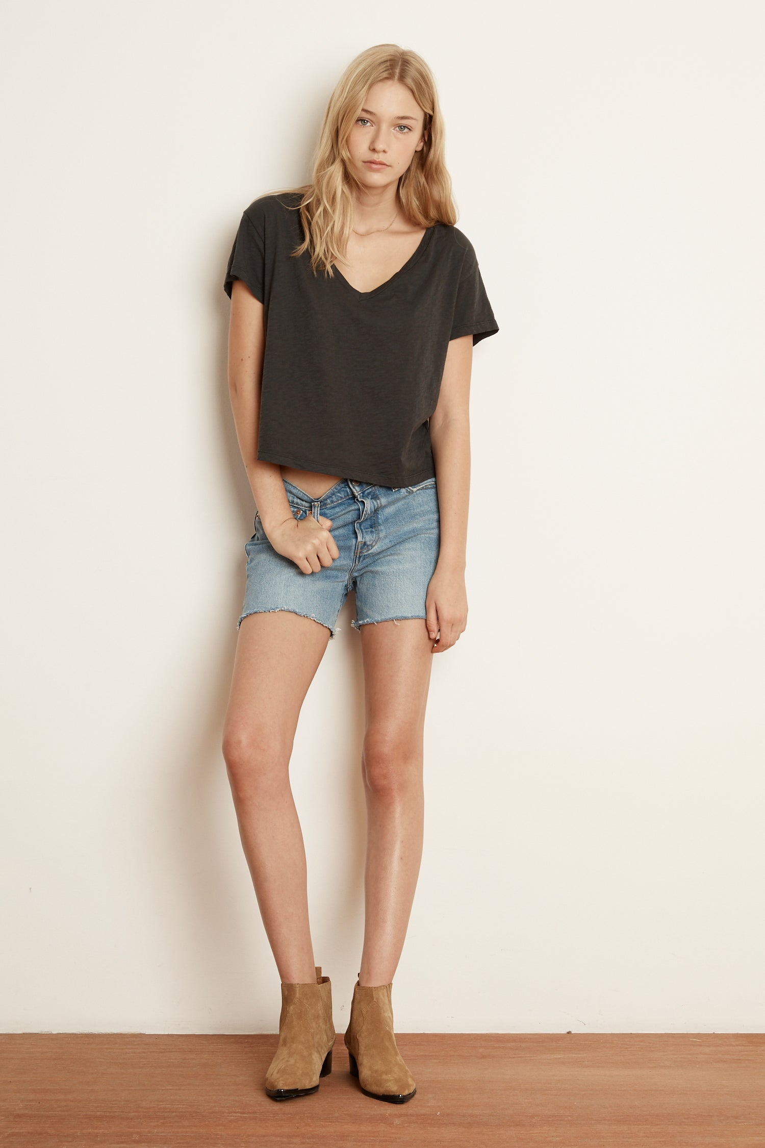 DILLON HIGH RISE DENIM SHORT IN COAST