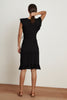 FEY COTTON SLUB MIX DRESS IN BLACK