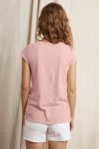 SUMETTE COTTON SLUB TEE IN BUBBLE