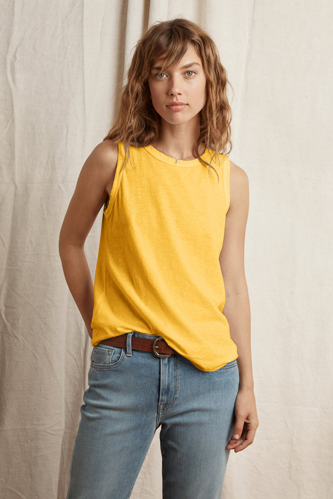 TAURUS COTTON SLUB TOP IN BANANA