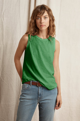 TAURUS COTTON SLUB TOP IN ELM