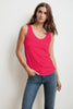 JEN SCOOP NECK TANK TOP IN FLIRTY