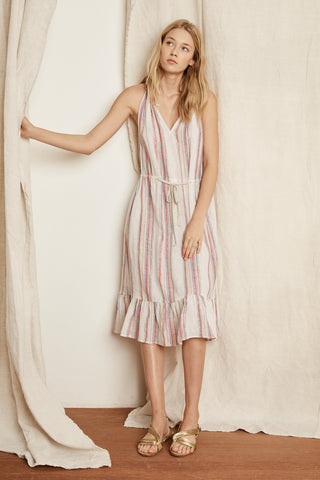 AUDES LUREX STRIPE DRESS IN MULTI