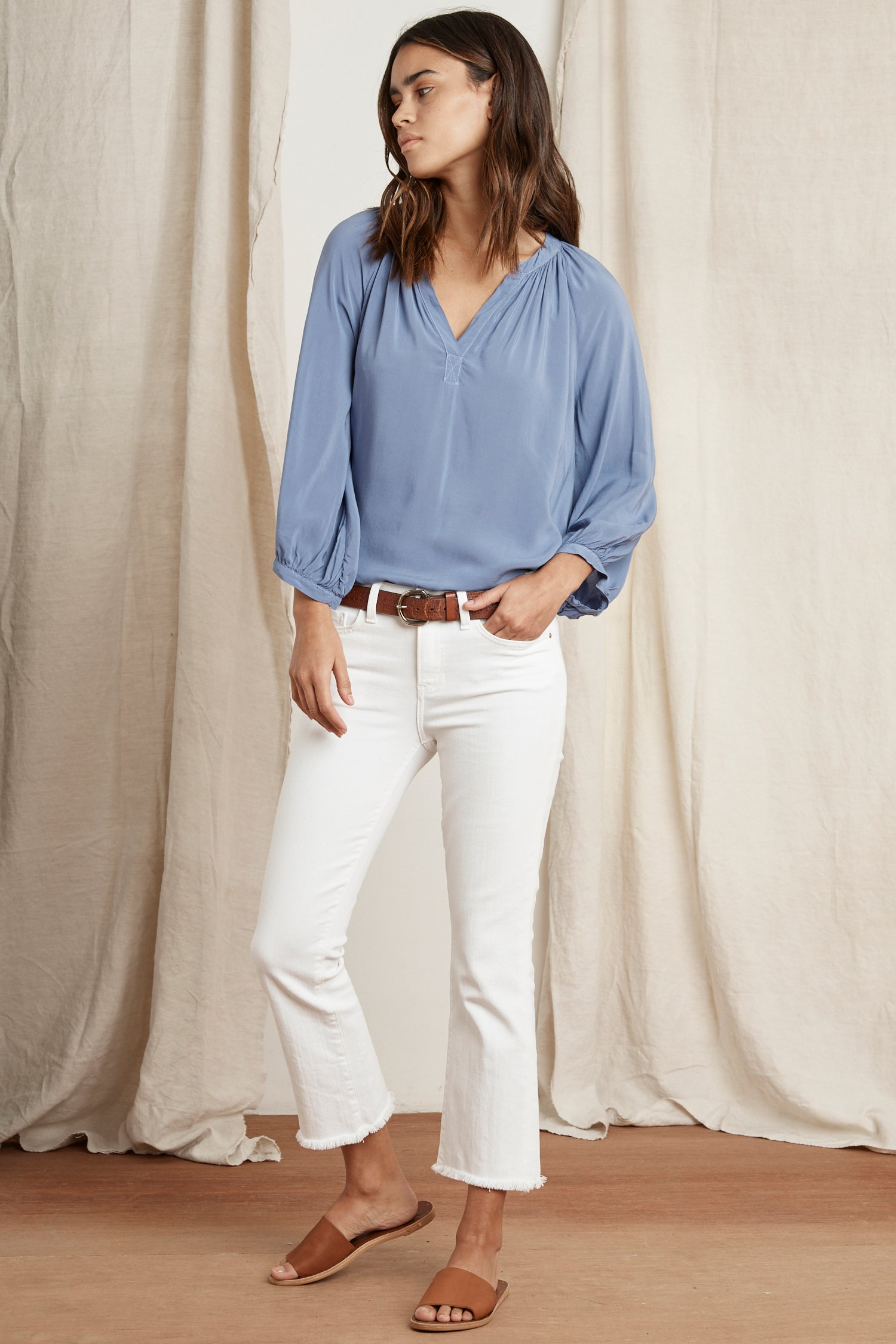 KADY RAYON CHALLIS BLOUSE IN BELLA