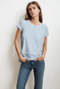 TRESSA SHORT SLEEVE CREW NECK TEE IN ANCHOR