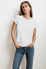 TRESSA SHORT SLEEVE CREW NECK TEE IN WHITE