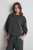 ADDILYN VINTAGE FLEECE SHIRRED SLEEVE PULLOVER IN CANNON