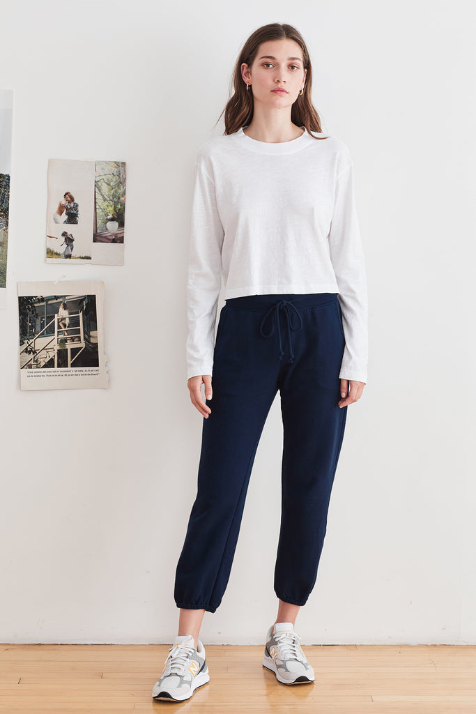 DAPHNE VINTAGE FLEECE JOGGERS IN NEPTUNE