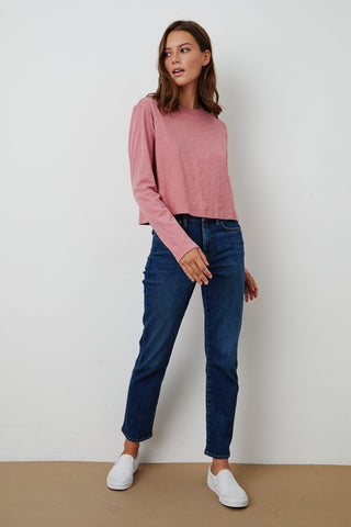 VICTORIA DENIM TROUSERS IN ANCHOR